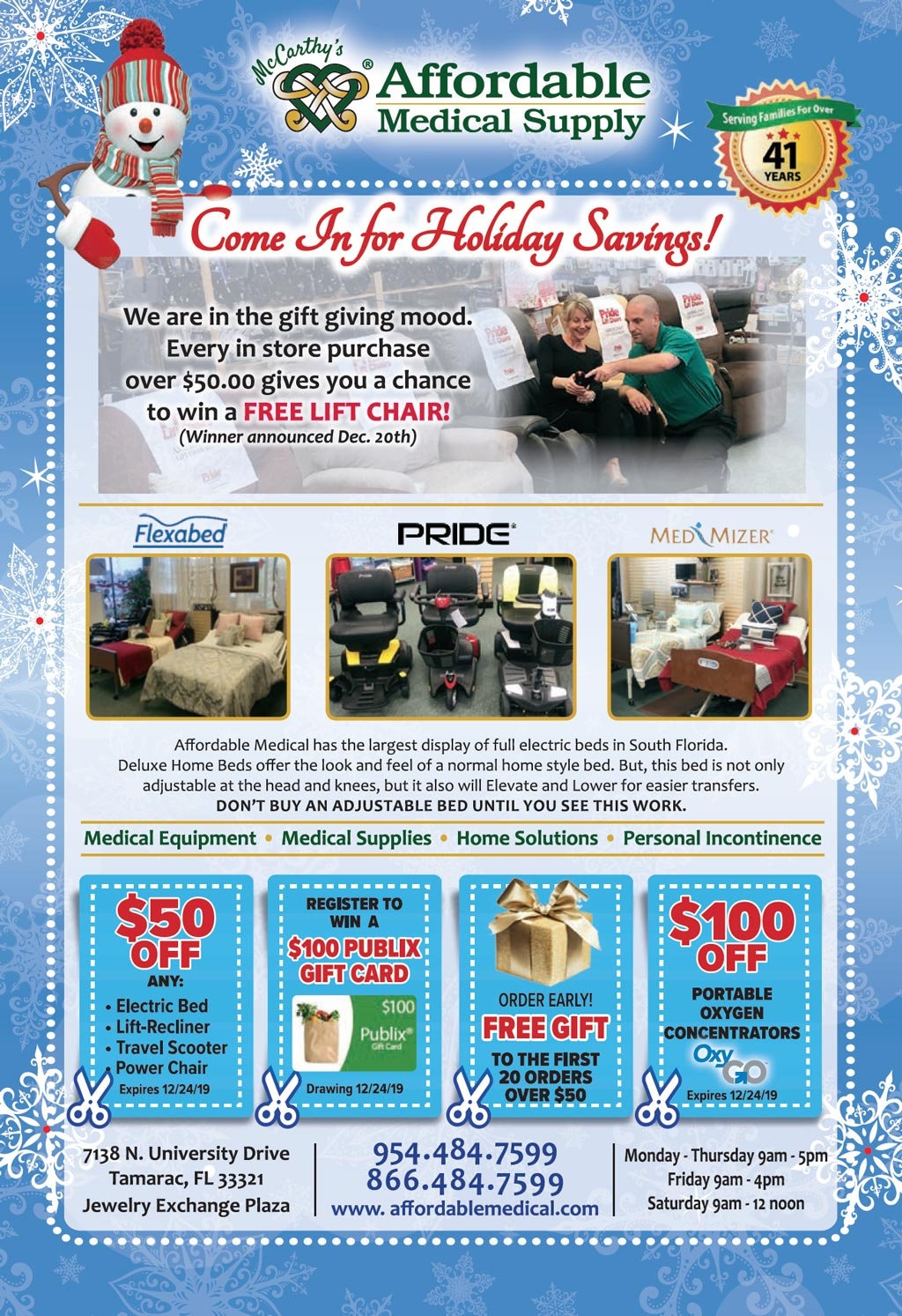 holiday specials and coupons